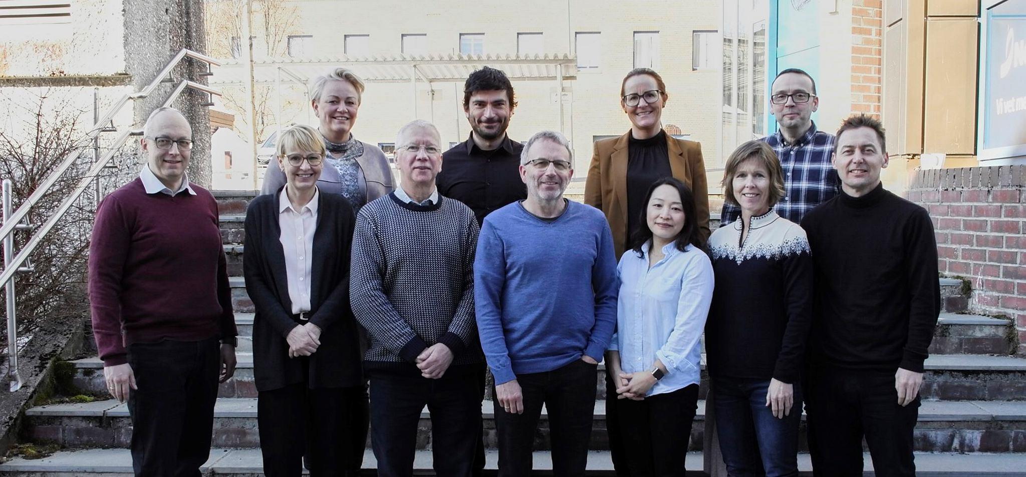 Engasjert gjeng med samarbeidspartnere under oppstartsmøtet til Qualidiff.